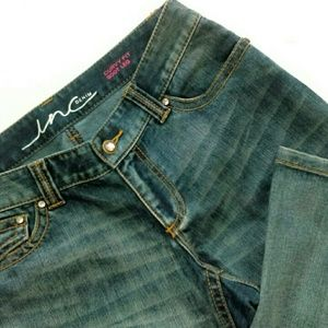 INC International Concepts Jeans - I.N.C Curvy Fit Jeans w/ Rhinestone Hardware
