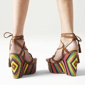 Jimmy Choo Shoes - 💰Open to offers💰 Jimmy Choo Pearl Rainbow Wedge