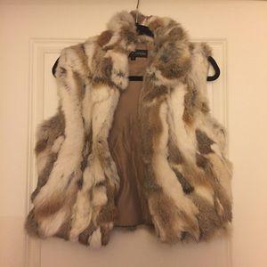 Adrienne Landau Jackets & Blazers - Adrienne Landau textured rabbit fur vest