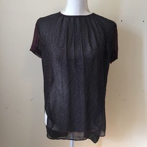 Aritzia Tops - Aritzia Wilfred Silk Sheer Open Back Blouse XS