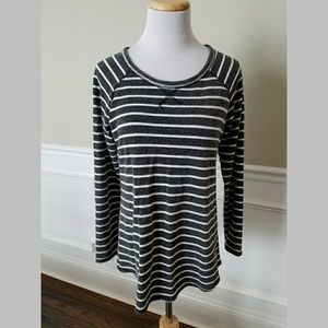 Kenar Black and White Stripe Long Tunic SZ M