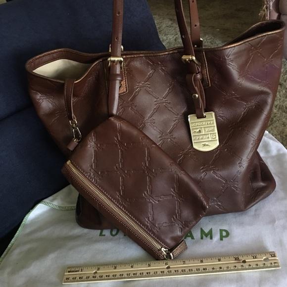 Longchamp Handbags - Longchamp LM cuir leather tote NWOT fb60392442