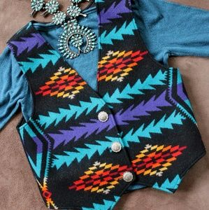 Pendleton Tribal Pattern Ladies Vest, Western Wear