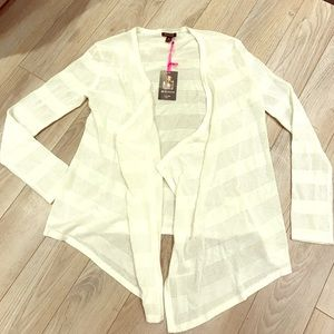 Charlotte Ronson Sweaters - NWT Charlotte Ronson | White open draped sweater