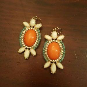 24th & Ocean Jewelry - Coral Gem Stone Earrings