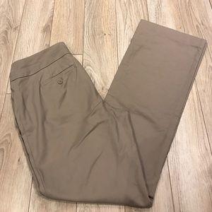 LOFT Pants - LOFT | Curvy 6 Light Brown Dress Pants
