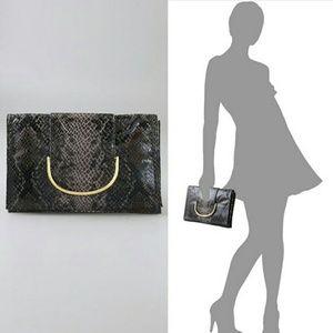 Karen Zambos Handbags - NWT Zambos & Siega faux snakeskin clutch