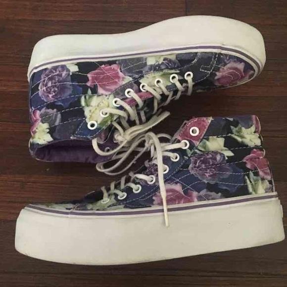 Vans Shoes   Floral Platform Sk8hi Vans