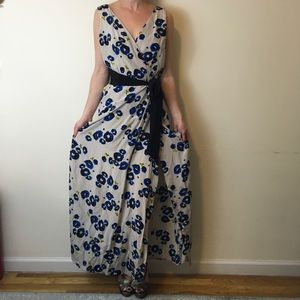 Yumi Kim Dresses & Skirts - Yumi Kim Blue Flower Silk Maxi Dress