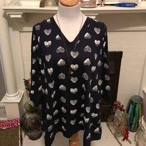 Torrid heart shirt size 3