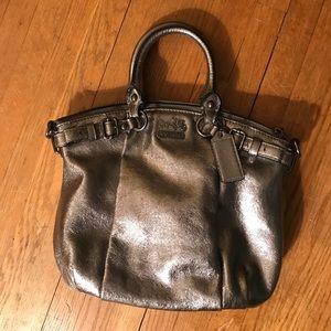 Coach Handbags - Coach Silver Metallic Gunmetal Purse