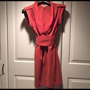 Ya Los Angeles Dresses & Skirts - Ya Los Angeles burnt orange belted shirt dress