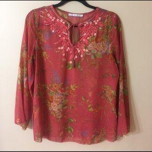 CABI Silk Floral Tunic
