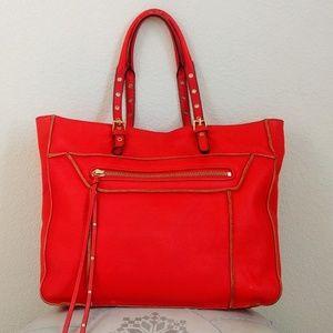 Steven by Steve Madden Handbags - Steven by Steve Madden Red 'France' Leather Tote