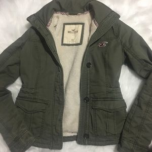 Hollister Jackets & Blazers - Utility olive green jacket