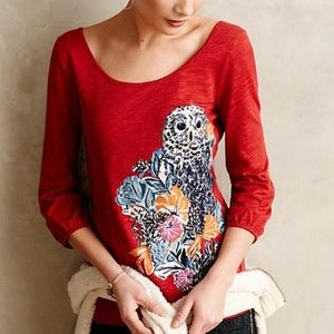 Anthro Forest Fete Owl Tee