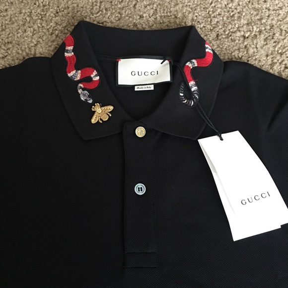 ab30b47f9c Gucci polo Cotton polo with snake embroidery NWT