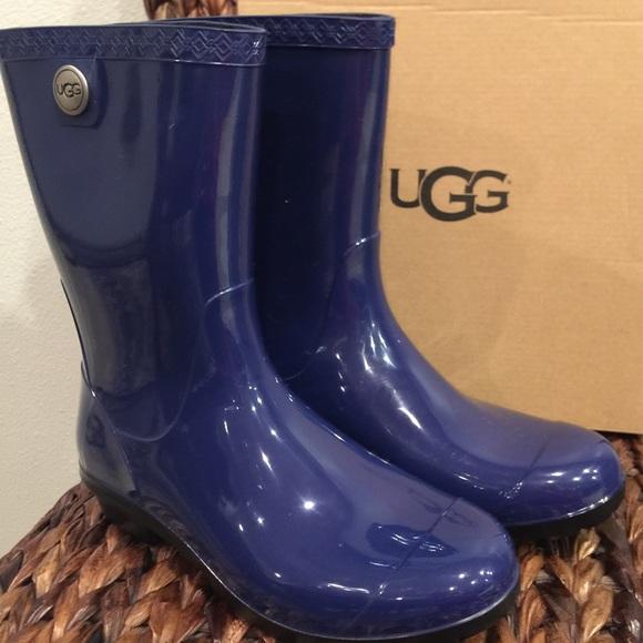 fd548090bfe UGG Sienna Short Bluejay Rain Boots NWT