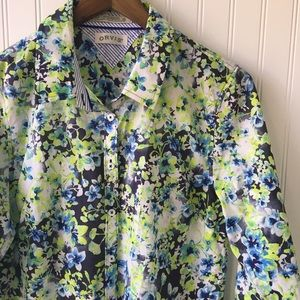Orvis Tops - Orvis Floral Print Collared Shirt