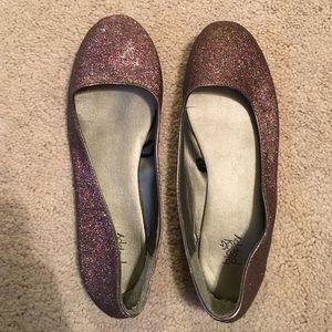 Black Poppy Shoes - Sparkly flats