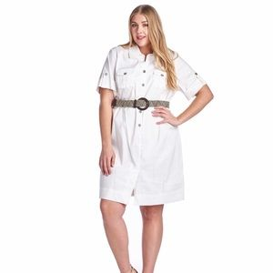 Dresses & Skirts - Button belted down shirt dress
