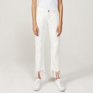 3x1 Denim - 3x1 White Cotton Fringed Bianca Jeans