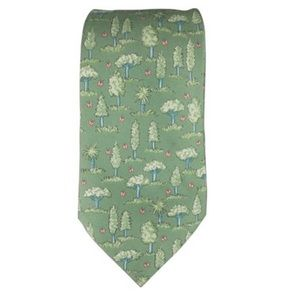 Hermes Other - Hermès Trees & Butterfly Printed Tie