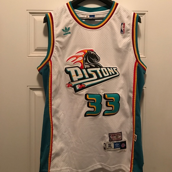 b453ca36e0a6 Adidas Other - Adidas Swingman Detroit Pistons Grant Hill Jersey