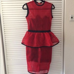 Dresses & Skirts - V brand red mesh dress