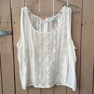 URBAN OUTFITTERS kimchi Blue white lace top