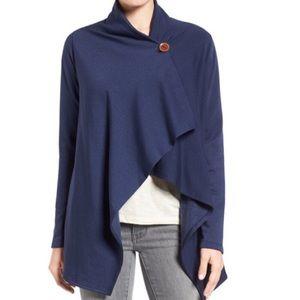 Bobeau Sweaters - Bobeau one-button wrap cardigan petite Large