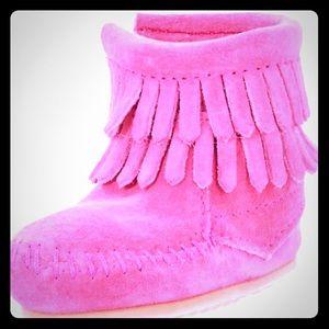 Minnetonka Other - COMING SOON-NIB Minnetonka Double Fringe Boots