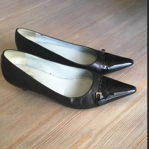 Etienne Aigner Shoes - Etienne Aigner Black Kitten Heels