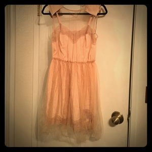 Rodarte for Target blush and beige dress