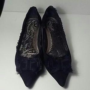 Seychelles Shoes - SEYCHELLES NWT Sz 8 Black suede low heel