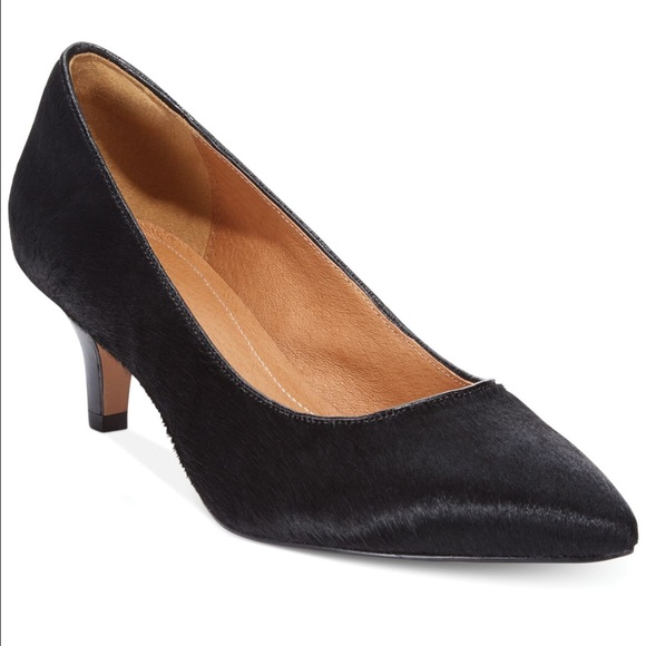 70cd3f313a Clarks Shoes | Sage Copper Dress Pump Black Pony Hair | Poshmark