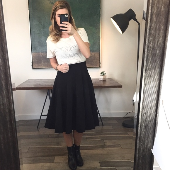 01fc95b99b Lover's Leap Boutique Skirts | Liquidation Full Black Swing Scuba ...