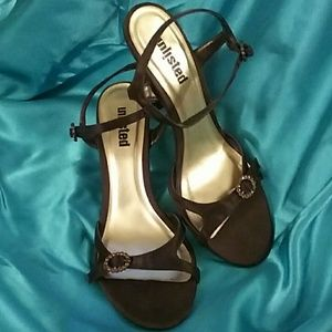 Unlisted by Kenneth Cole Brown Strappy Heels