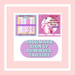 TAG LIST ONLY FOR dress & category Groups