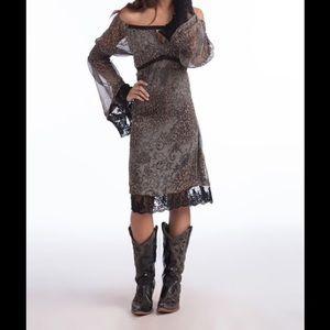Free People Dresses & Skirts - BEAUTIFUL BELL SLEEVE BOHO STYLE DRESS !LOWEST!!!!
