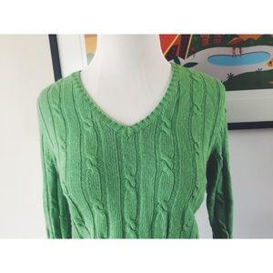 Merona Pull Over Chic Green Sweater SM