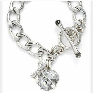 Juicy Couture heart charm bracelet