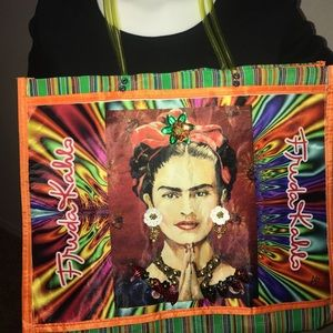 Handbags - 3-D Art Frida Kahlo shopping bag