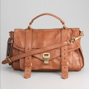 Proenza Schouler PS1 satchel medium in brown color