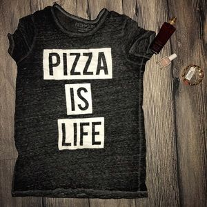 Fifth Sun Tops - Small pizza is life fifth sun blouse