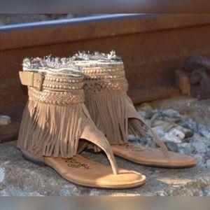 naughty monkey Shoes - 🙊LOWEST PRICE🙊Naughty Monkey Suede Fringe Sandal