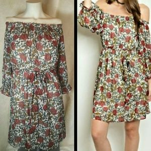 Flying Tomato Dresses & Skirts - Flying Tomato Off Shoulder Floral Boho Dress Small