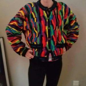 Sweaters - VTG 90s COOGI Cardigan sweater #coogi
