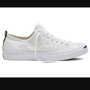 7ca7546d68b41b Converse Shoes - Converse Jack Purcell White Canvas Camo Lunarlon