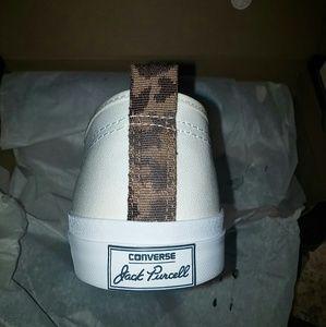 88200b62cebd Converse Shoes - Converse Jack Purcell White Canvas Camo Lunarlon
